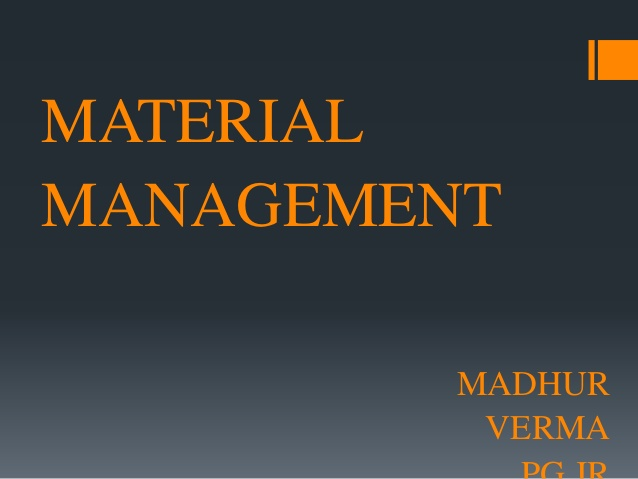 BPLM 112 - Supplies and material management I