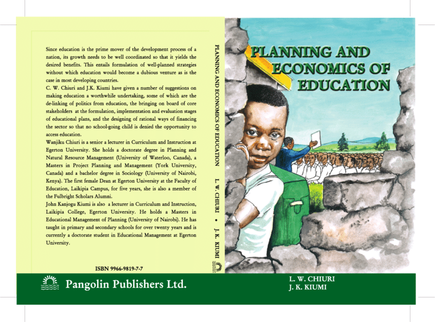 EAPE 421: PLANNING AND ECONOMICS OF EDUCATION